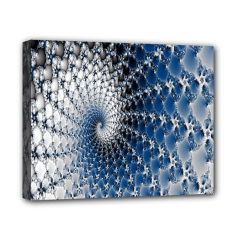 Mandelbrot Fractal Abstract Ice Canvas 10  X 8