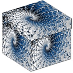Mandelbrot Fractal Abstract Ice Storage Stool 12