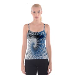 Mandelbrot Fractal Abstract Ice Spaghetti Strap Top