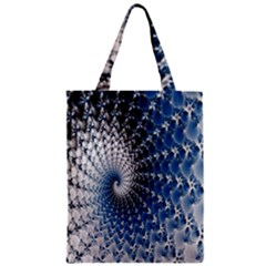 Mandelbrot Fractal Abstract Ice Zipper Classic Tote Bag