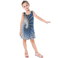Mandelbrot Fractal Abstract Ice Kids  Sleeveless Dress