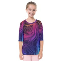 Abstract Pattern Art Wallpaper Kids  Quarter Sleeve Raglan Tee