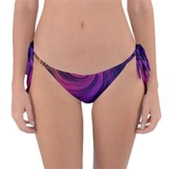 Abstract Pattern Art Wallpaper Reversible Bikini Bottom