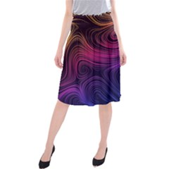 Abstract Pattern Art Wallpaper Midi Beach Skirt