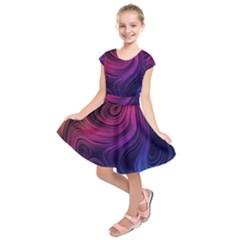 Abstract Pattern Art Wallpaper Kids  Short Sleeve Dress