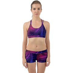 Abstract Pattern Art Wallpaper Back Web Sports Bra Set