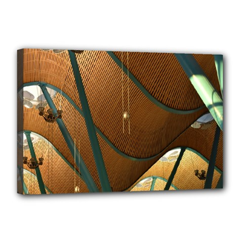 Airport Pattern Shape Abstract Canvas 18  X 12