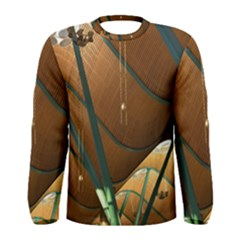 Airport Pattern Shape Abstract Men s Long Sleeve Tee