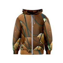 Airport Pattern Shape Abstract Kids  Zipper Hoodie