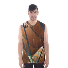 Airport Pattern Shape Abstract Men s Basketball Tank Top