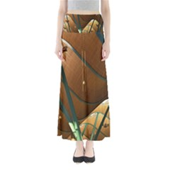Airport Pattern Shape Abstract Full Length Maxi Skirt