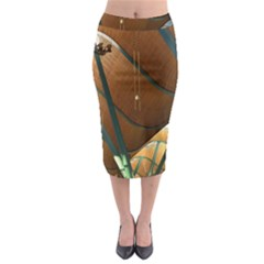 Airport Pattern Shape Abstract Midi Pencil Skirt