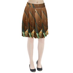 Airport Pattern Shape Abstract Pleated Skirt