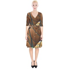 Airport Pattern Shape Abstract Wrap Up Cocktail Dress