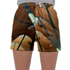 Airport Pattern Shape Abstract Sleepwear Shorts