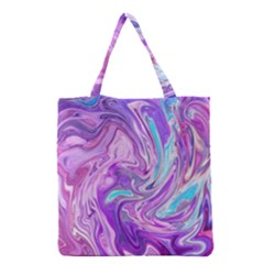 Abstract Art Texture Form Pattern Grocery Tote Bag