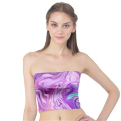 Abstract Art Texture Form Pattern Tube Top