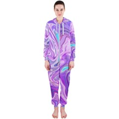 Abstract Art Texture Form Pattern Hooded Jumpsuit (ladies)