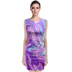 Abstract Art Texture Form Pattern Classic Sleeveless Midi Dress
