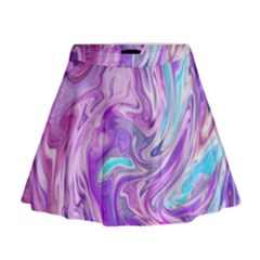 Abstract Art Texture Form Pattern Mini Flare Skirt