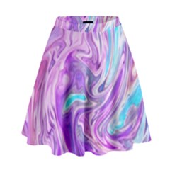 Abstract Art Texture Form Pattern High Waist Skirt