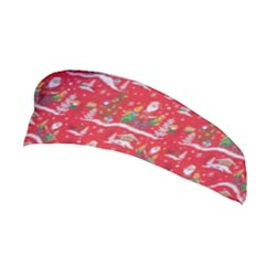 Red Background Christmas Stretchable Headband