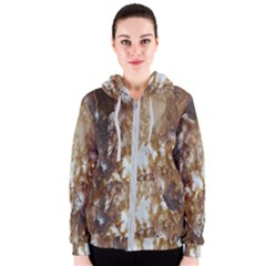 Rusty Texture Pattern Daniel Women s Zipper Hoodie