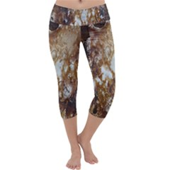 Rusty Texture Pattern Daniel Capri Yoga Leggings