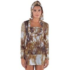 Rusty Texture Pattern Daniel Long Sleeve Hooded T Shirt