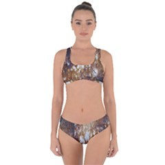 Rusty Texture Pattern Daniel Criss Cross Bikini Set