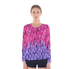 Wool Knitting Stitches Thread Yarn Women s Long Sleeve Tee