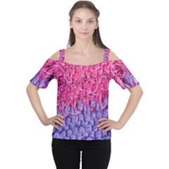 Wool Knitting Stitches Thread Yarn Cutout Shoulder Tee