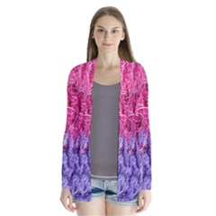 Wool Knitting Stitches Thread Yarn Drape Collar Cardigan