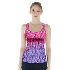 Wool Knitting Stitches Thread Yarn Racer Back Sports Top
