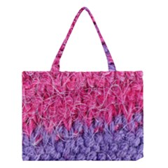 Wool Knitting Stitches Thread Yarn Medium Tote Bag