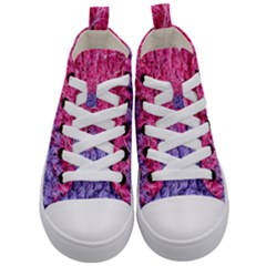 Wool Knitting Stitches Thread Yarn Kid s Mid Top Canvas Sneakers