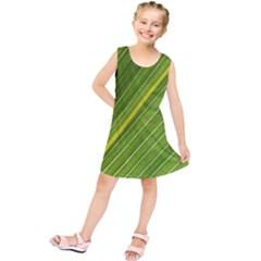 Leaf Plant Nature Pattern Kids  Tunic Dress