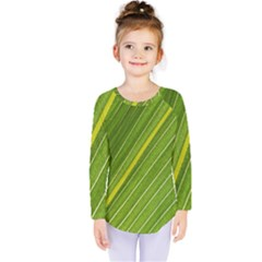 Leaf Plant Nature Pattern Kids  Long Sleeve Tee