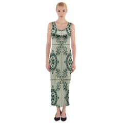 Jugendstil Fitted Maxi Dress