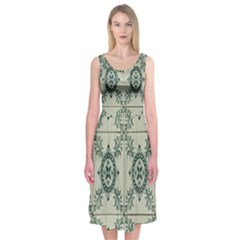 Jugendstil Midi Sleeveless Dress