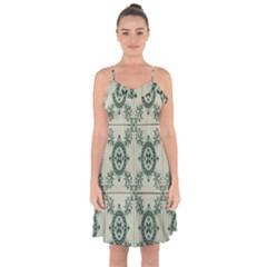Jugendstil Ruffle Detail Chiffon Dress