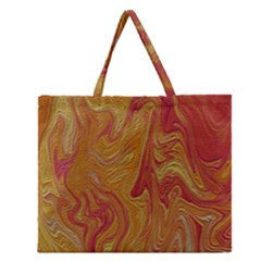 Texture Pattern Abstract Art Zipper Large Tote Bag