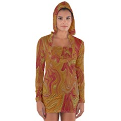 Texture Pattern Abstract Art Long Sleeve Hooded T Shirt