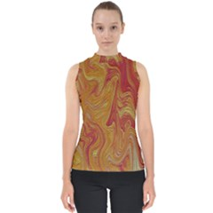 Texture Pattern Abstract Art Shell Top