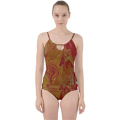 Texture Pattern Abstract Art Cut Out Top Tankini Set