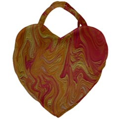 Texture Pattern Abstract Art Giant Heart Shaped Tote