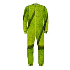 Green Leaf Plant Nature Structure Onepiece Jumpsuit (kids)