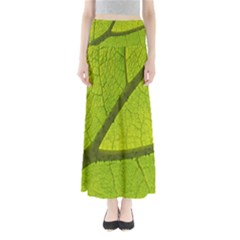 Green Leaf Plant Nature Structure Full Length Maxi Skirt