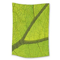 Green Leaf Plant Nature Structure Large Tapestry