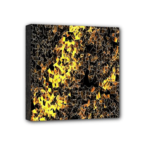 The Background Wallpaper Gold Mini Canvas 4  X 4